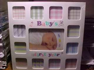 6dcc1cff1d1 BABYS FIRST 1ST YEAR PICTURE FRAME white ...