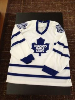 vintage 80s CCM TORONTO MAPLE LEAFS SEWN NHL jersey shirt MUST SEE