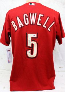 JEFF BAGWELL SIGNED AUTOGRAPHED HOUSTON ASTROS JERSEY MLB & PSA/DNA #