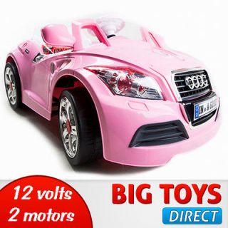 On Car 12V Audi Style Kids Power Wheels W/ MP3 Remote Control White RC
