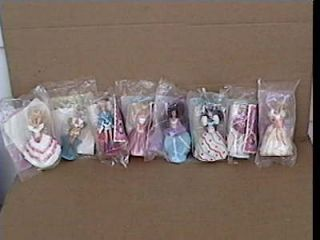 McDonalds Happy Meal 1992 Barbie Dolls/Toys Lot of 8 Sealed