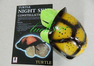 Kid Baby Sleep Turtle Night Light Stars Led Lamp Projector Toy