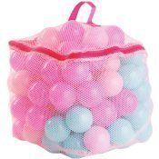 100 SOFT PLAY BALL POOL/PIT REPLACEMENT PLASTIC BALLS ASSORTED PINK