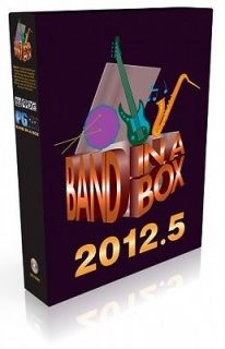 PG Music Band in a Box Everything Pak 2012.5 MAC ships on 160GB hard