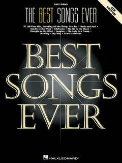 The Best Songs Ever Easy Piano Sheet Music Vocal Melody Lyrics Book