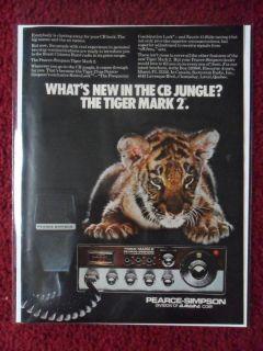 Print Ad Pearce Simpson Mark 2 CB Radio ~ Tiger Cub New in the Jungle
