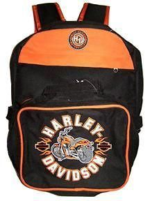 Harley Davidson Kids Backpack with Insulated Lunch Tote School