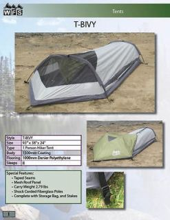 Bivy tent, 1 person, camping, hiking, backpacking
