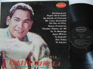 FELIPE PIRELA latin america LP CANTA CON ORQUESTA PORFI JIMENEZ VELVET