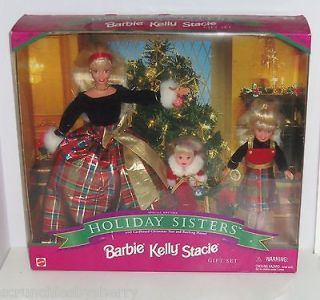 Kelly Stacie Barbie Doll Holiday Sister Christmas 1998 NRFB Gift Set