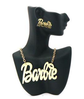 Nicki Minaj Inspired Gold Tone Mirror Polished Barbie Charm Earring