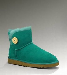 UGG Australia MINI BAILEY BUTTON Womens BOOTS EMERALD (EMR) 3352