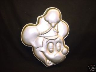 MICKEY MOUSE cake pan DISNEY BAKE metal baking mold tin jello BIRTHDAY