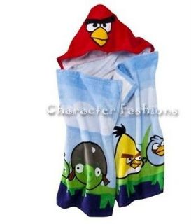 ANGRY BIRDS BEACH BATH POOL Towel SWIM HOODED ONE SIZE
