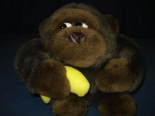 Round Gorilla Plush Banana Stuffed Monkey Ape Toy 4p10 Plushy Lovey