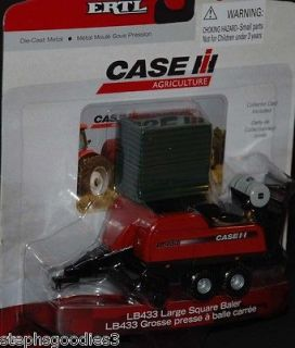 ERTL, Case International, LB433 Square Baler & Bales, NEW