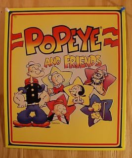 Popeye & Friends Tin Sign Animated Cartoons Comics Kings Featured