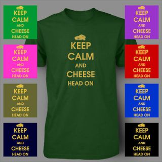 Keep Calm and Cheese Head Green Bay PACKERS Mens T Shirt