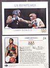 1992 U. S. OLYMPIC HOPEFULS LARRY DONALD BOXING CARD
