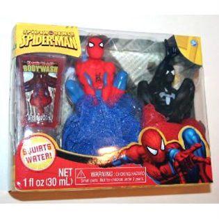 Spiderman Tub Time Friends 3pc Gift Set Bath Toy Body Wash NEW