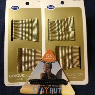 Goody Bobby Pins 2 50 Pack (Hair Barrette) Blonde New Plus Free Gift