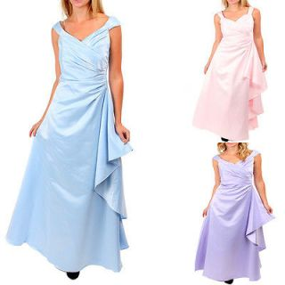Sexy Womens Long Maxi Dress Asymmetrical Pleated Gown With Extra Side