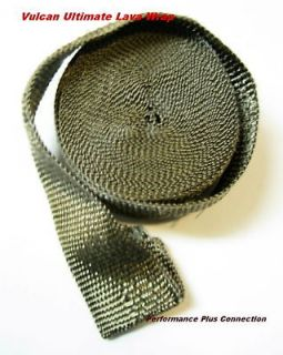 HIGH HEAT ENGINE HEADER EXHAUST PIPE WRAP TAPE LAVA BASALT TITANIUM