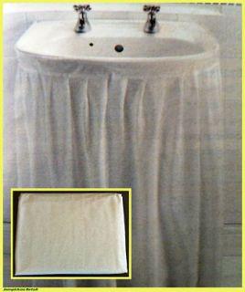 White Wipe Clean PEVA Sink Basin Skirt Curtain Self Adhesive Bathroom