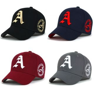 New cotton Mens hat letter A unisex Black hats baseball cap casual hat