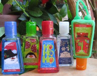 Bath Body Works Anti Bacterial Hand Sanitizer Gel Kids Christmas x5 w