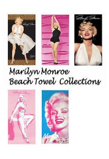 Marilyn Monroe Beach/Bath Towel Collections 30x60
