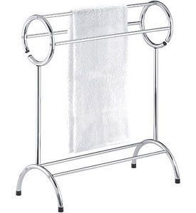Chrome Free Standing Bathroom Towel Rack