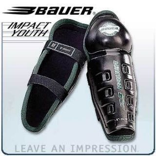 Bauer Impact Kids Youth Junior Jr Hockey Shin Guards 9 inch, Brand