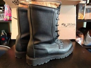 Size 10 Bates Cold Weather Gore Tex Military Boots with Galoshes and