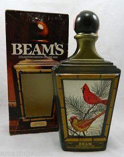 Jim Beams Collection Decanter Bottle Cardinal Bird XVIII James