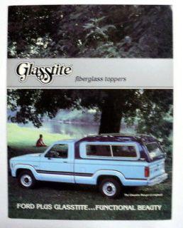 Ford c 1980 1985 Glasstite Fiberglass Toppers Truck Brochure