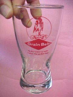 Grain Belt Grainbelt beer glass glasses 5.5 H x 3 dia EXCELLENT