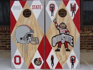 OHIO STATE BUCKEYE Custom Cornhole Boards w/ bags/BeaN Bag Toss Game