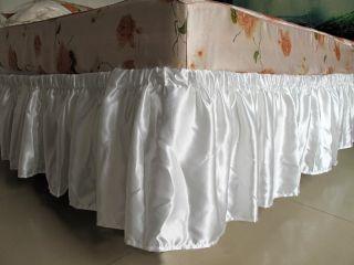 Eyelet Bedskirt Ruffle Queen/King Nostalgic Elastic Bed skirt Bedding