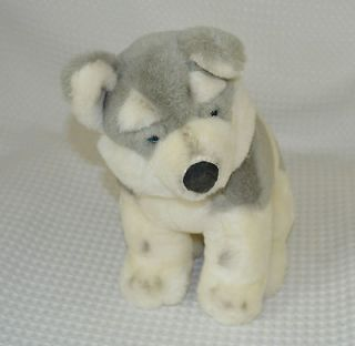 12 Heritage Collection Grey White Wolf Dog Ganzbros Stuffed Animal