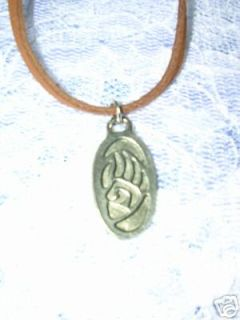 TRIBAL BEAR CLAW PAW PEWTER PENDANT 18 SUEDE NECKLACE