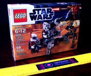 LEGO STAR WARS 9488 ELITE CLONE ARC ARF TROOPER & COMMANDO DROID