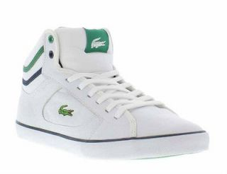 Lacoste Shoes Genuine Camous CRE White Green Mens Shoes Sizes UK 8