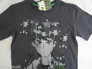BEN10 Ben 10 Licensed boy t tee shirt top grey cotton BNWT sizes 3 7