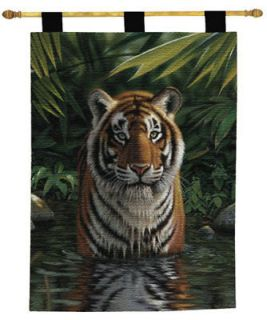 Tiger Pool Tapestry Wall Hanging ~ EXOTIC MAGNIFICENT