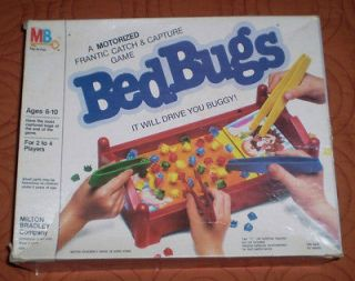 Vintage 1985 Bed Bugs Game Motorized By Milton Bradley Good Condition