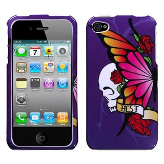 Best Friend Purple Phone Protector Cover Case for Apple iPhone 4