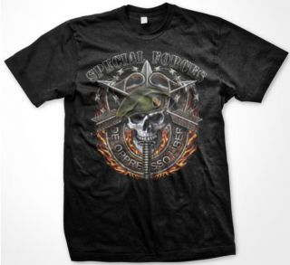 Liber United States Army Special Forces Green Berets T Shirt Tee