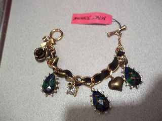 Betsey Johnson Asian Jungle Charm Toggle Bracelet New