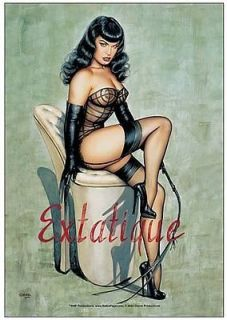 Bettie Page Extatique Fabric Cloth Poster 51500